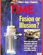 La copertina di «Time» del 1989 sulla fusione fredda